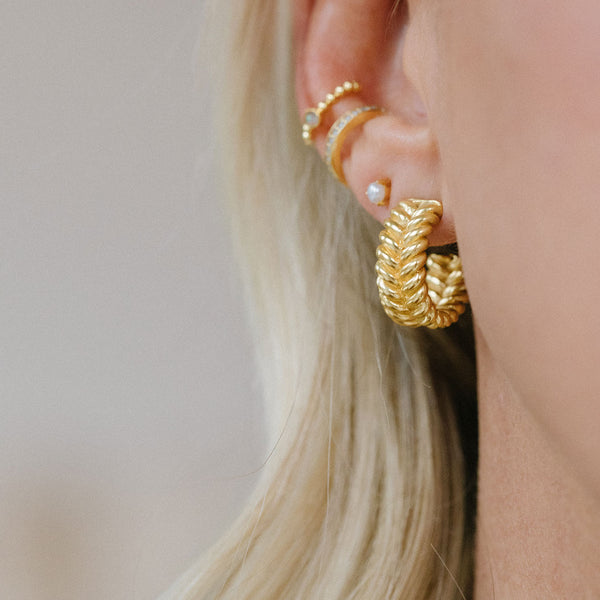 Braided Hoops | Gold