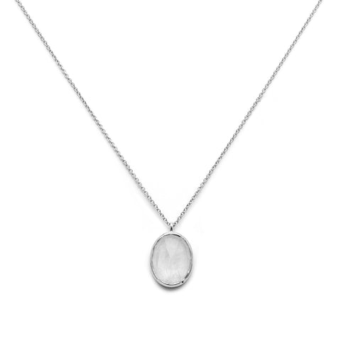 leah alexandra sterling silver moonstone cameo necklace