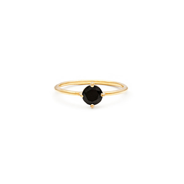 leah alexandra black onyx compass ring