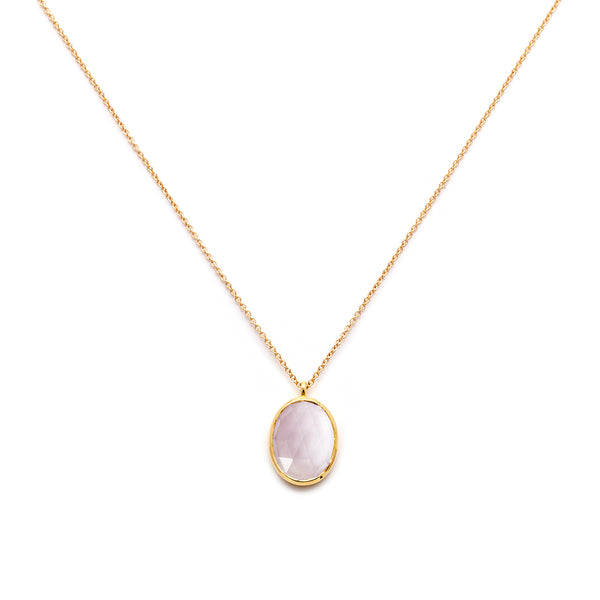 amethyst gold cameo necklace