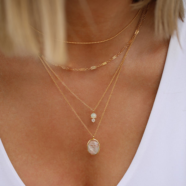Mara Chain Necklace | Gold