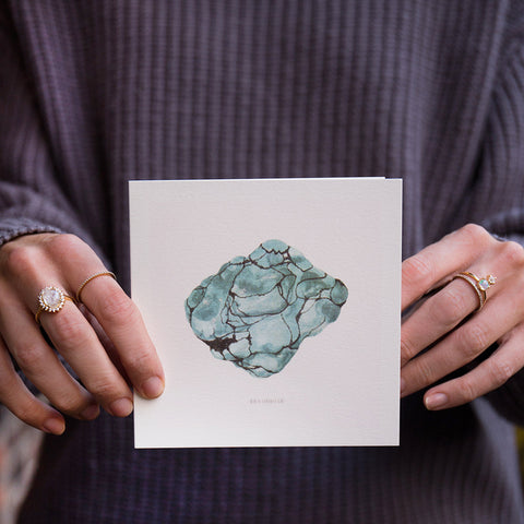 Watercolor Gem Card: Turquoise