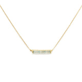 Channel Aqua Necklace, gold, short necklace, necklace on white background, jewelry