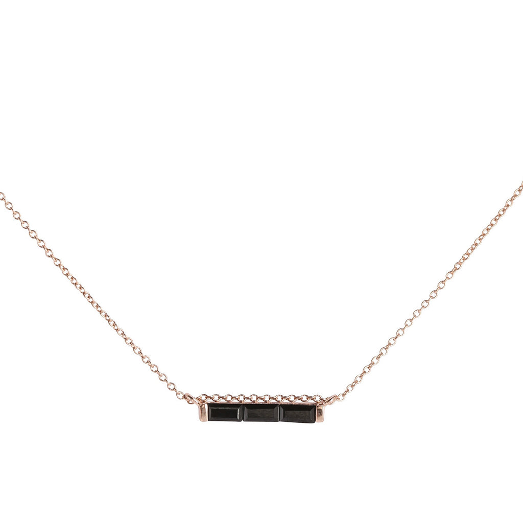 black fashion maria and roxy necklace pin jewellery