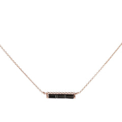 Channel Necklace | Black Garnet