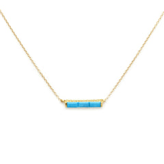 Channel Necklace | Turquoise