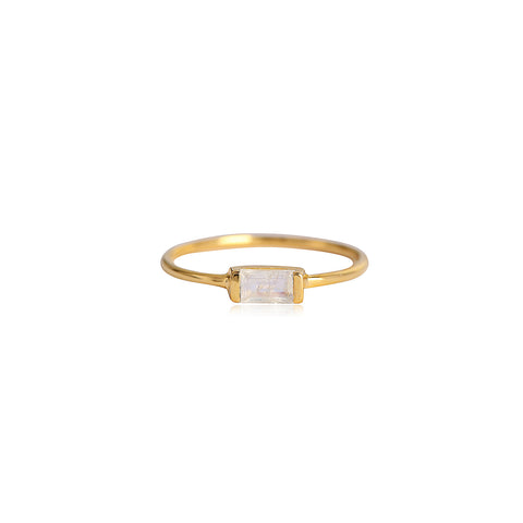 Leah Alexandra gold moonstone channel ring