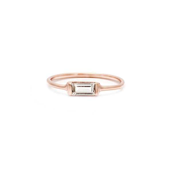 leah alexandra white topaz rosegold stacking ring