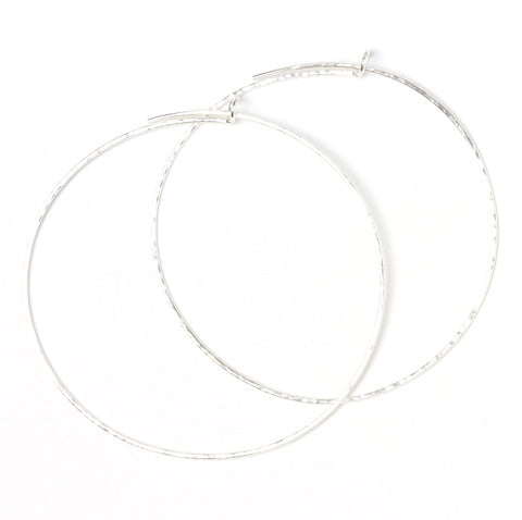 leah alexandra hand made sterling silver hoop earrings
