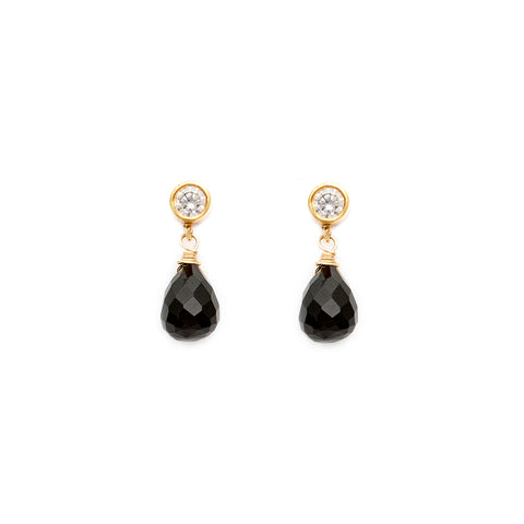 Drip Drop Earrings Black Onyx