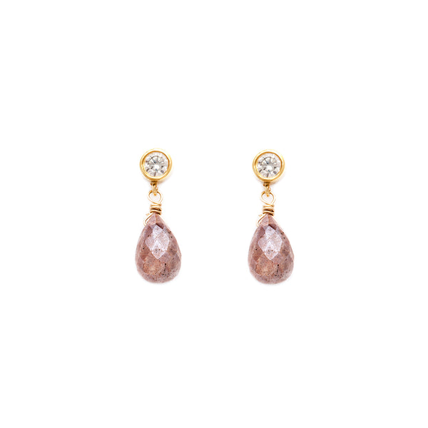 leah alexandra blush moonstone gold drop stud post earrings