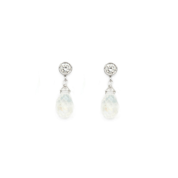 Drip Drop Moonstone Earrings