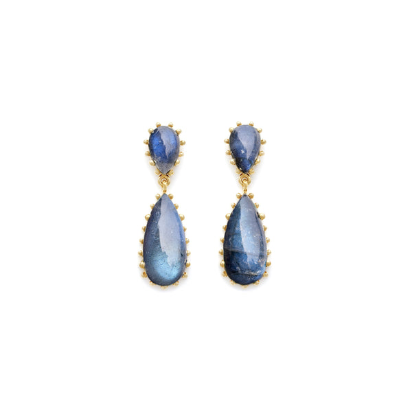 Shining Labradorite Statement Damas Earrings