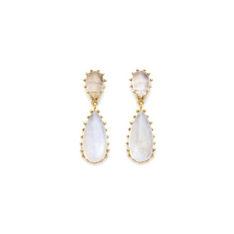 Glowing Moonstone Statement Damas Earrings
