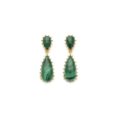 Damas Earrings | Malachite