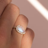 Etereo Ring | 14k Gold, Moonstone & Diamond