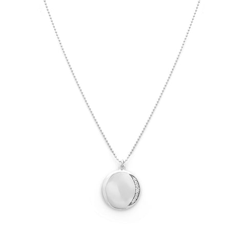 leah alexandra silver coin necklace eclipse necklace