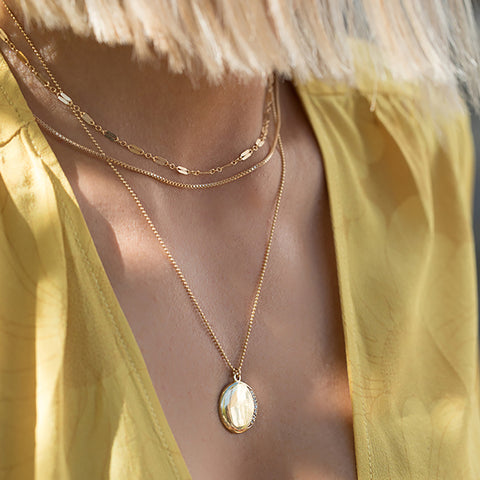leah alexandra gold filled ballayer necklace