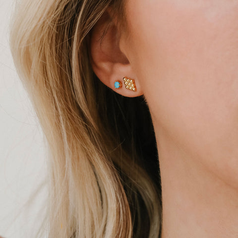 Element Studs | Turquoise