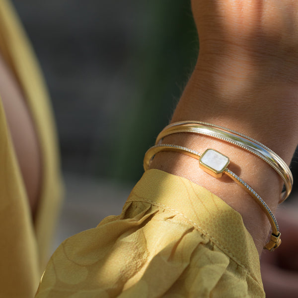 gold layered bracelets