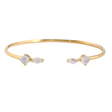 Fling Moonstone Gold Cuff