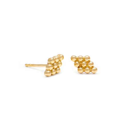 leah alexandra gold forence studs