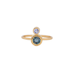 Frida Ring Tanzanite and London-blue topaz