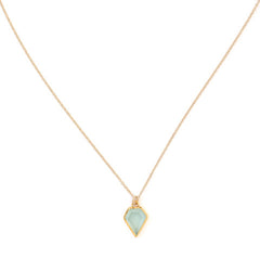 Gem Necklace | Aqua Chalcedony