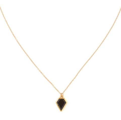 leah alexandra black onyx gem necklace