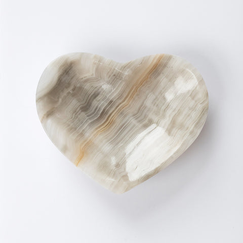 Grey Aragonite Heart Dish