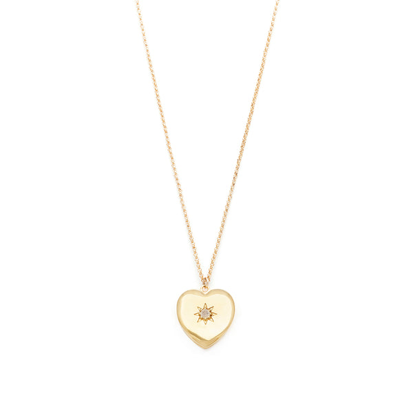 leah alexandra gold heart locket