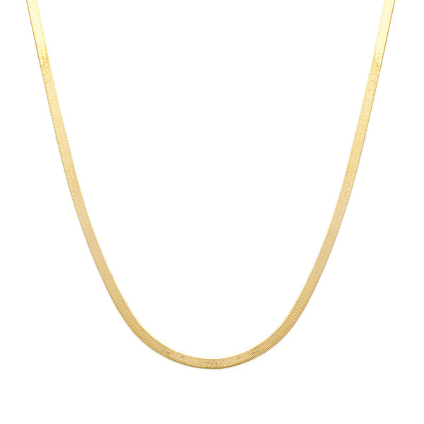 14K Gold Herringbone Mother Chain Necklace