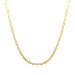 Herringbone Mother Necklace | 14k Gold