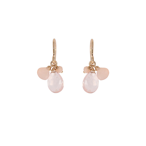 PINK CHALCEDONY HOOK EARRINGS