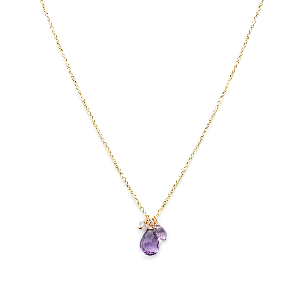 necklace silver in style s miller amethyst sterling stone shop jewellery drop
