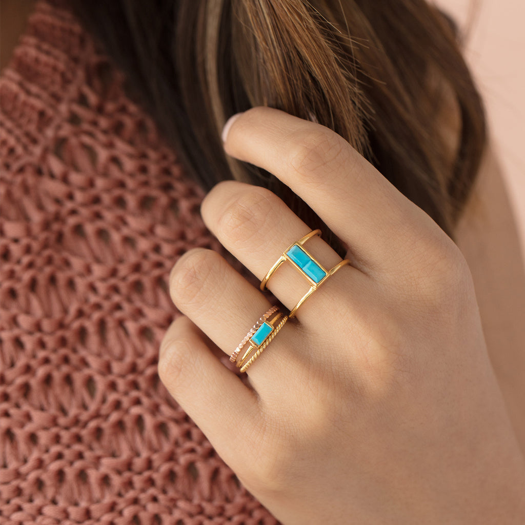 ring turquoise image lucky moments antique midi boho set product rings for products women stone finger