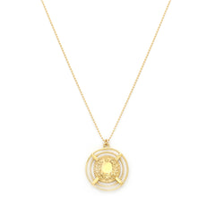 Laveer Necklace | Gold