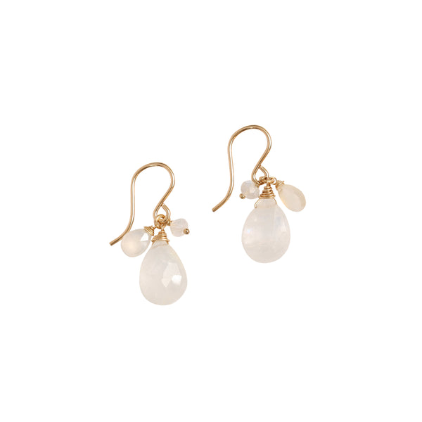 leah alexandra moonstone french hook earrings
