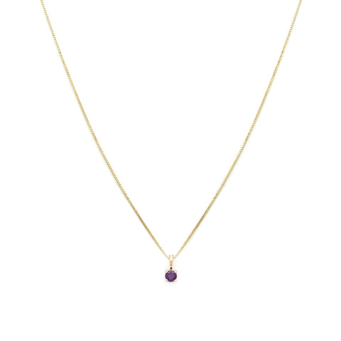 Leah Alexandra amethyst 14k gold birthstone february necklace element necklace