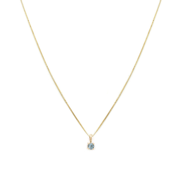 Leah Alexandra aquamarine 14k gold birthstone element necklace