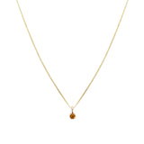 Leah Alexandra citrine november birthstone 14k gold necklace