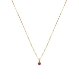 Leah Alexandra garnet january birthstone 14k gold necklace
