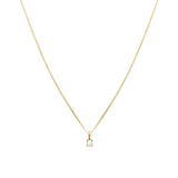 Leah Alexandra pearl birthstone 14k gold necklace