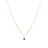 Leah Alexandra sapphire september birthstone 14k gold necklace