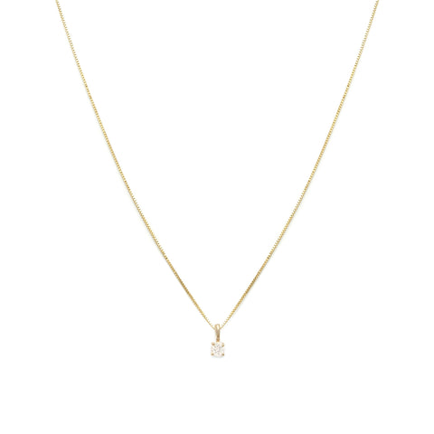 Leah Alexandra white sapphire 14k gold birthstone april necklace element necklace