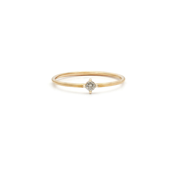 Leah Alexandra gold diamond stacking ring
