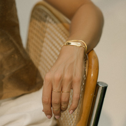 Leah alexandra basic gold stacking ring
