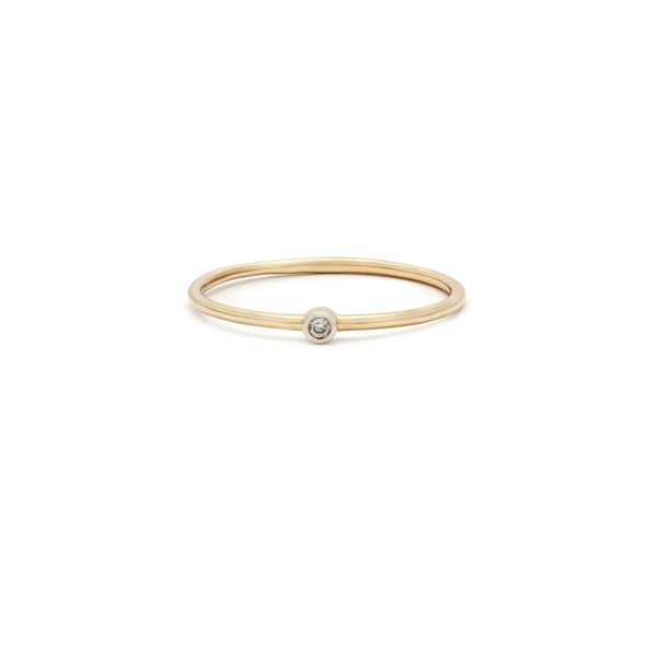 Leah Alexandra diamond 14k gold stacking ring Latitude Ring