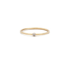 Latitude Ring | 14k Gold & Diamond