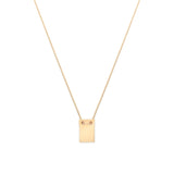 Leah Alexandra note necklace ID tag